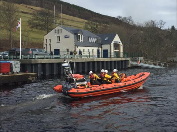 Lifeboat at Loch Ness