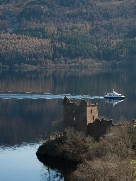 Jacobite warrior and Urquhart Castle