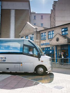 Jacobite Coach at Inverness Bus Station